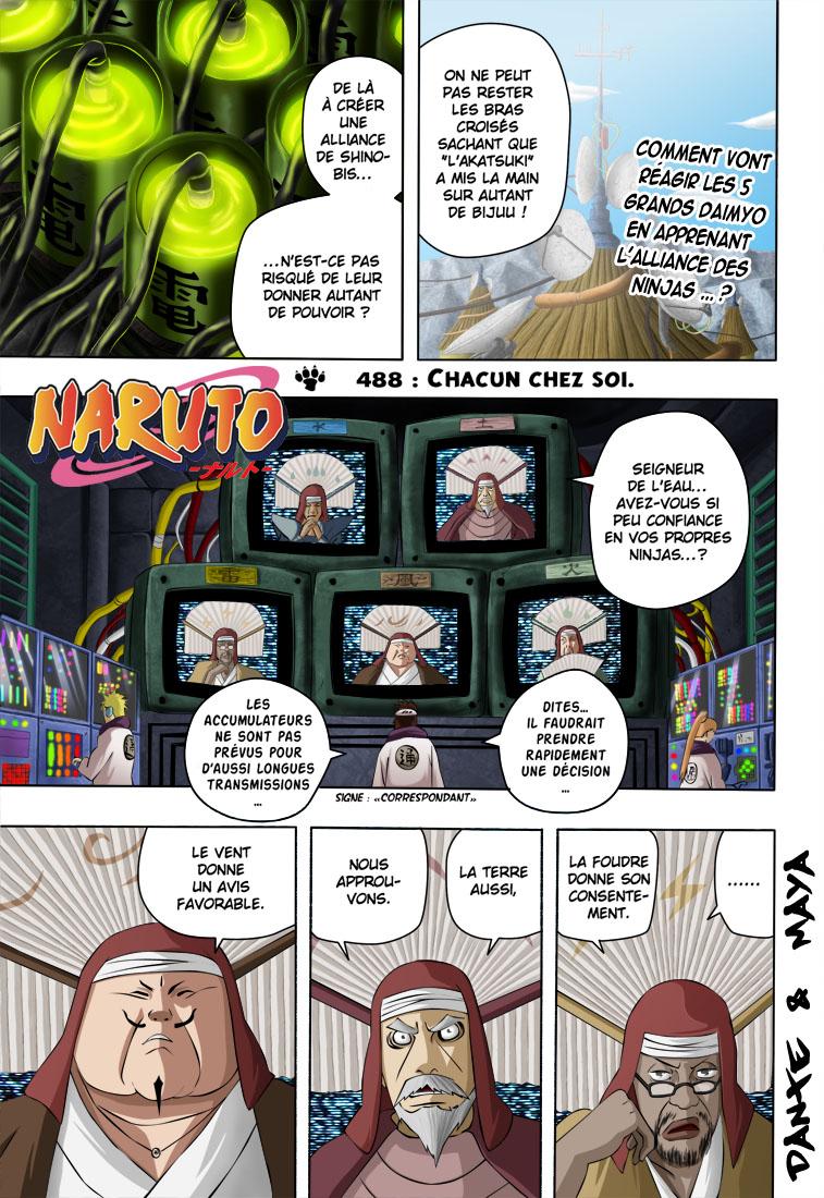Naruto chapitre 488 colorisé - Page 1