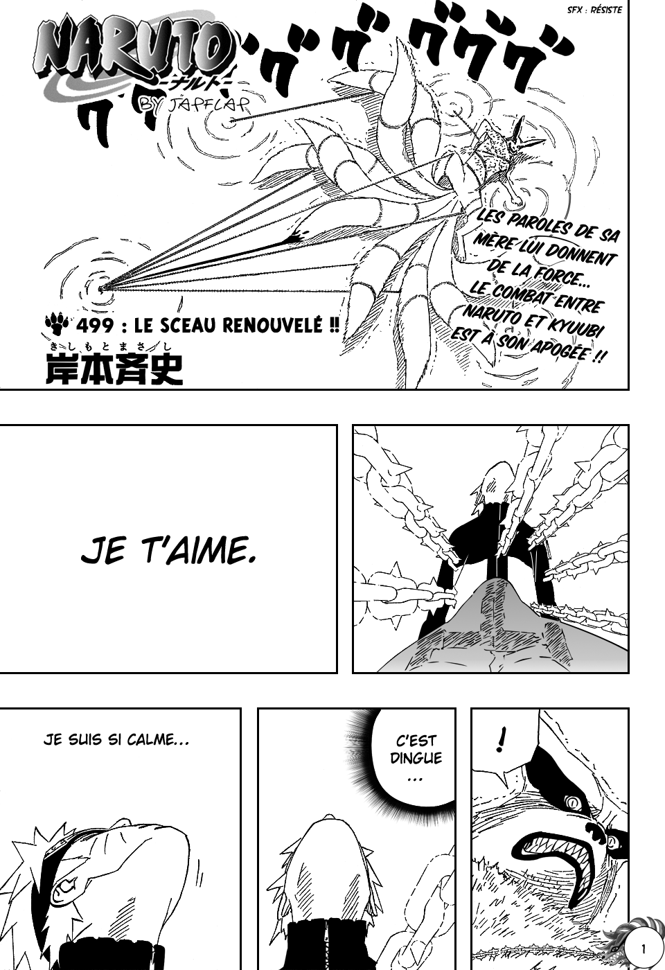 Naruto chapitre 499 - Page 1