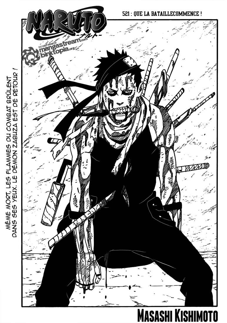 Naruto chapitre 521 - Page 1