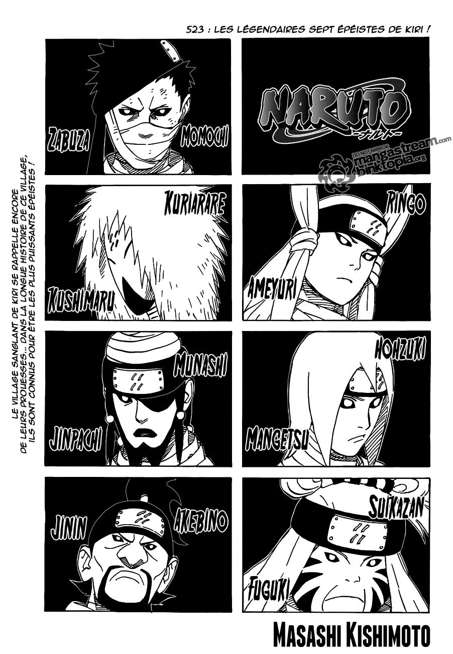 Naruto chapitre 523 - Page 1