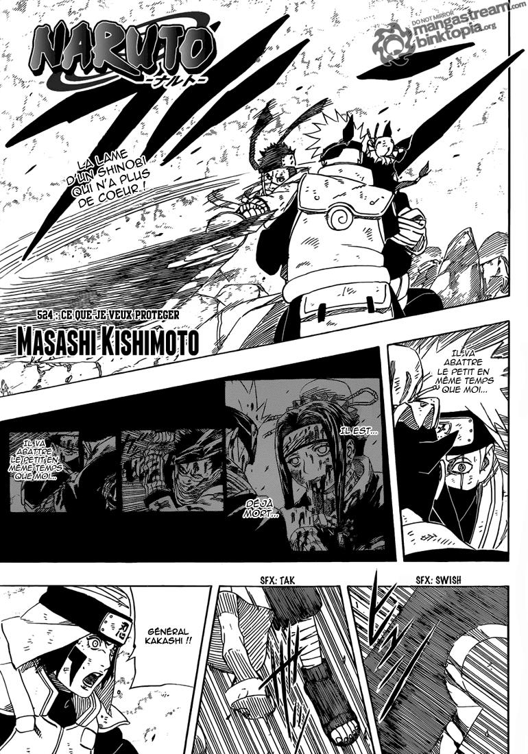Naruto chapitre 524 - Page 1