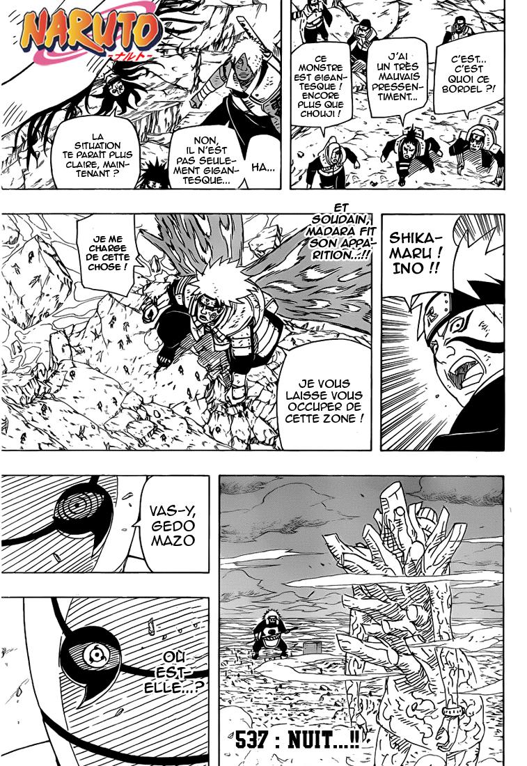 Naruto chapitre 537 - Page 1