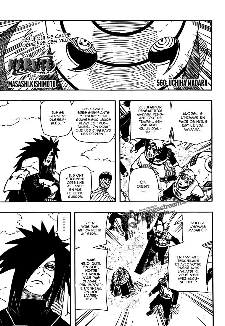 Naruto chapitre 560 - Page 1