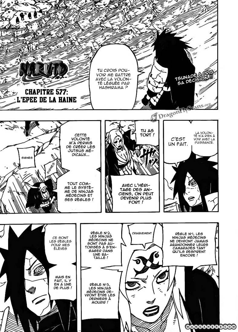 Naruto chapitre 577 - Page 1