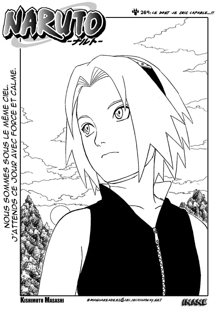 Naruto chapitre 269 - Page 1