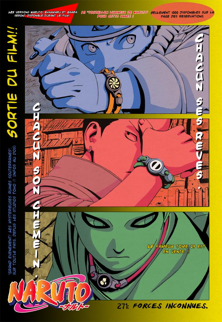 Naruto chapitre 271 - Page 1