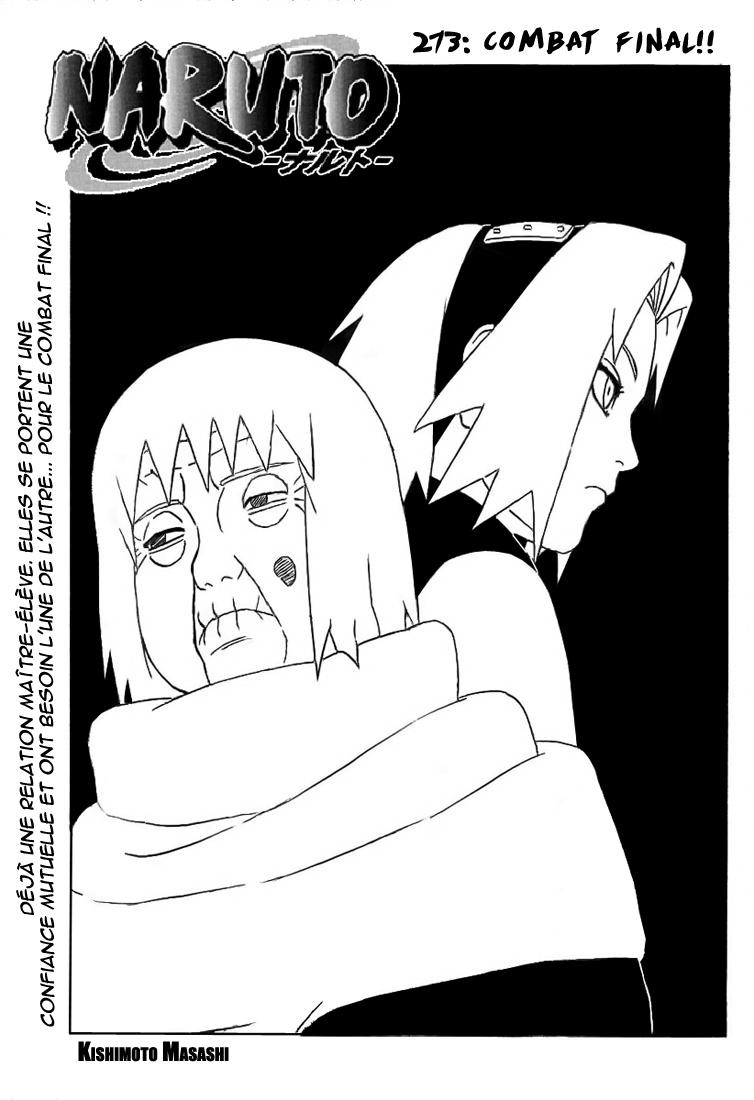 Naruto chapitre 273 - Page 1