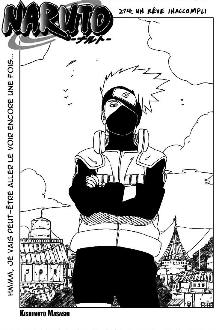 Naruto chapitre 274 - Page 1