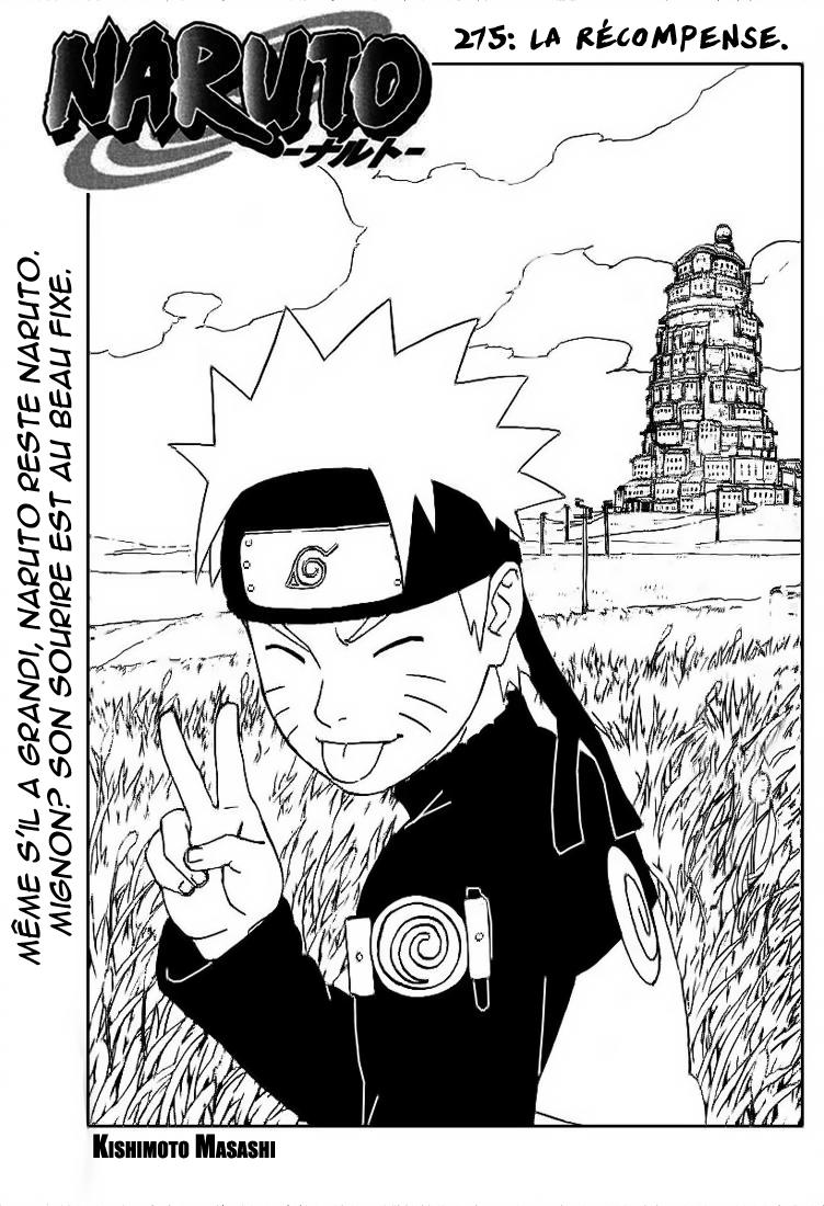 Naruto chapitre 275 - Page 1