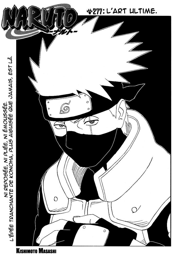 Naruto chapitre 277 - Page 1