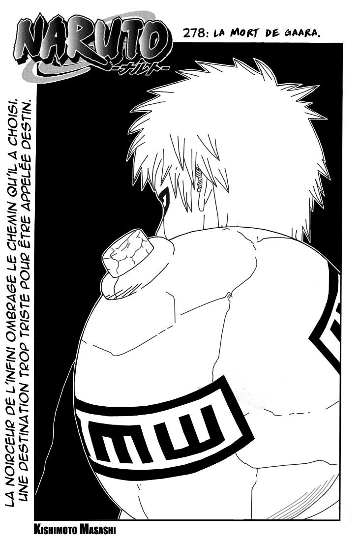 Naruto chapitre 278 - Page 1