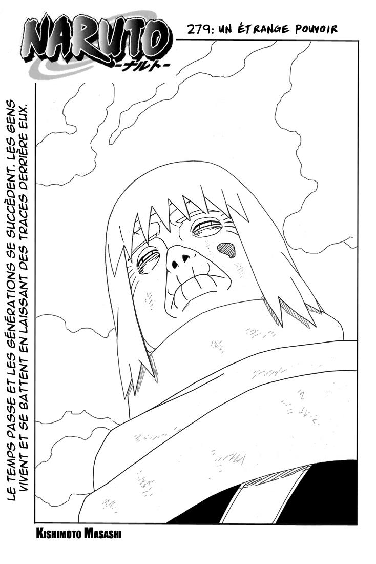 Naruto chapitre 279 - Page 1