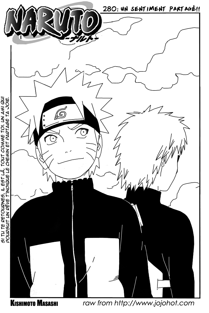Naruto chapitre 280 - Page 1
