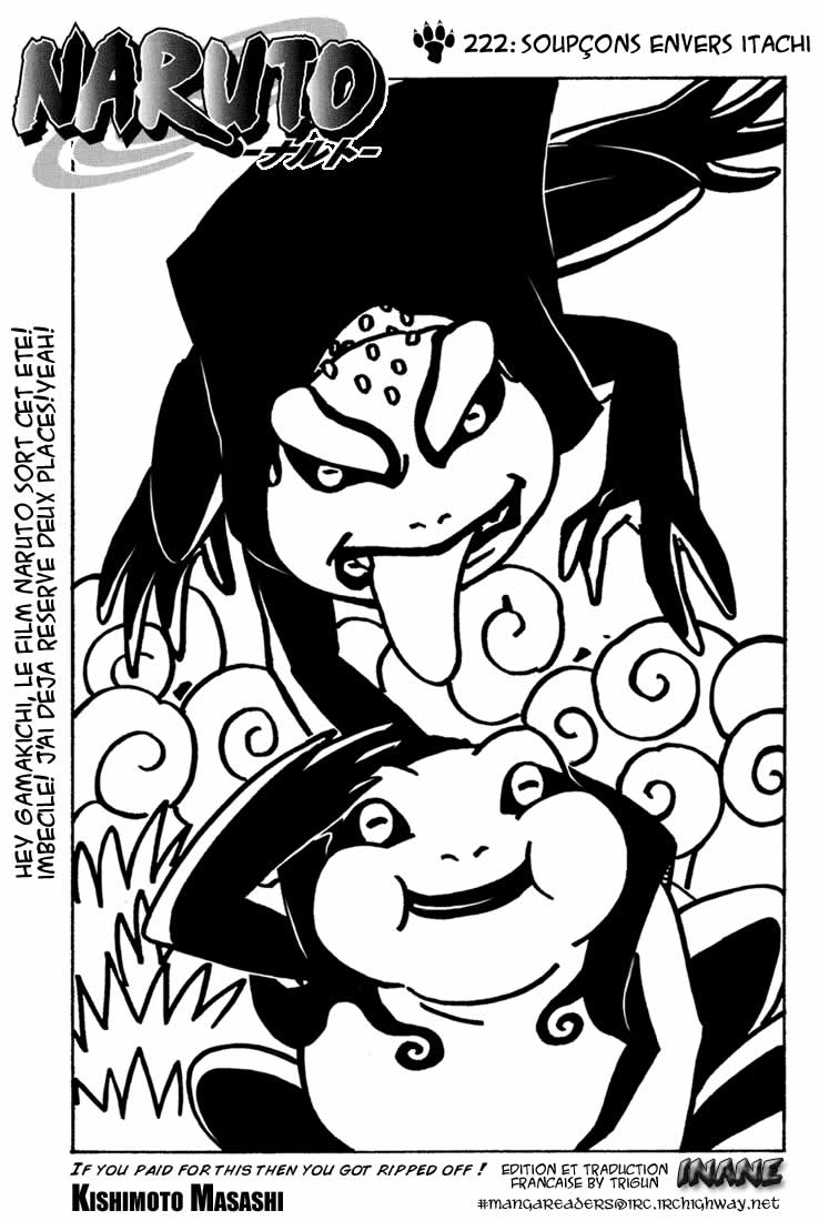 Naruto chapitre 222 - Page 1
