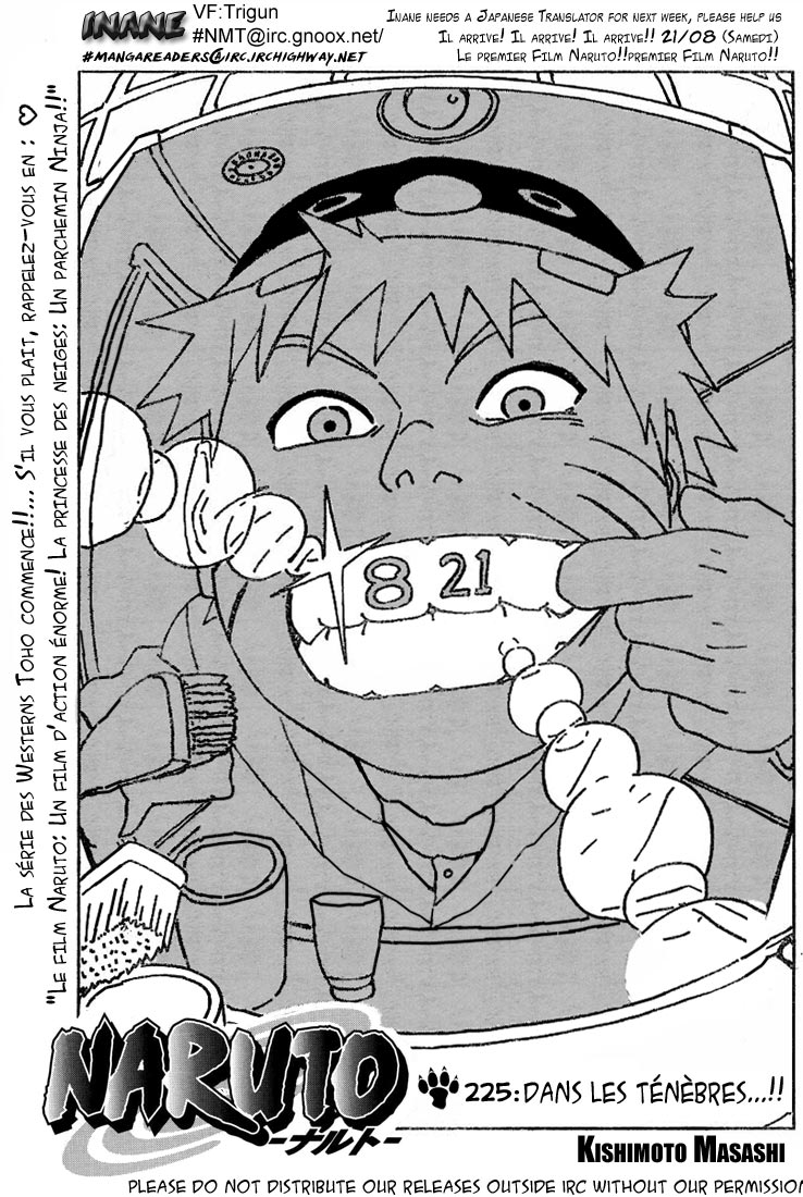 Naruto chapitre 225 - Page 1