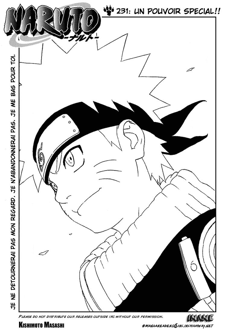Naruto chapitre 231 - Page 1