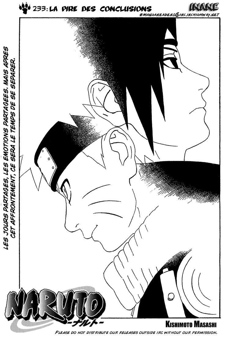 Naruto chapitre 233 - Page 1