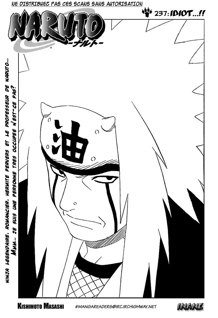 Naruto chapitre 237 - Page 1