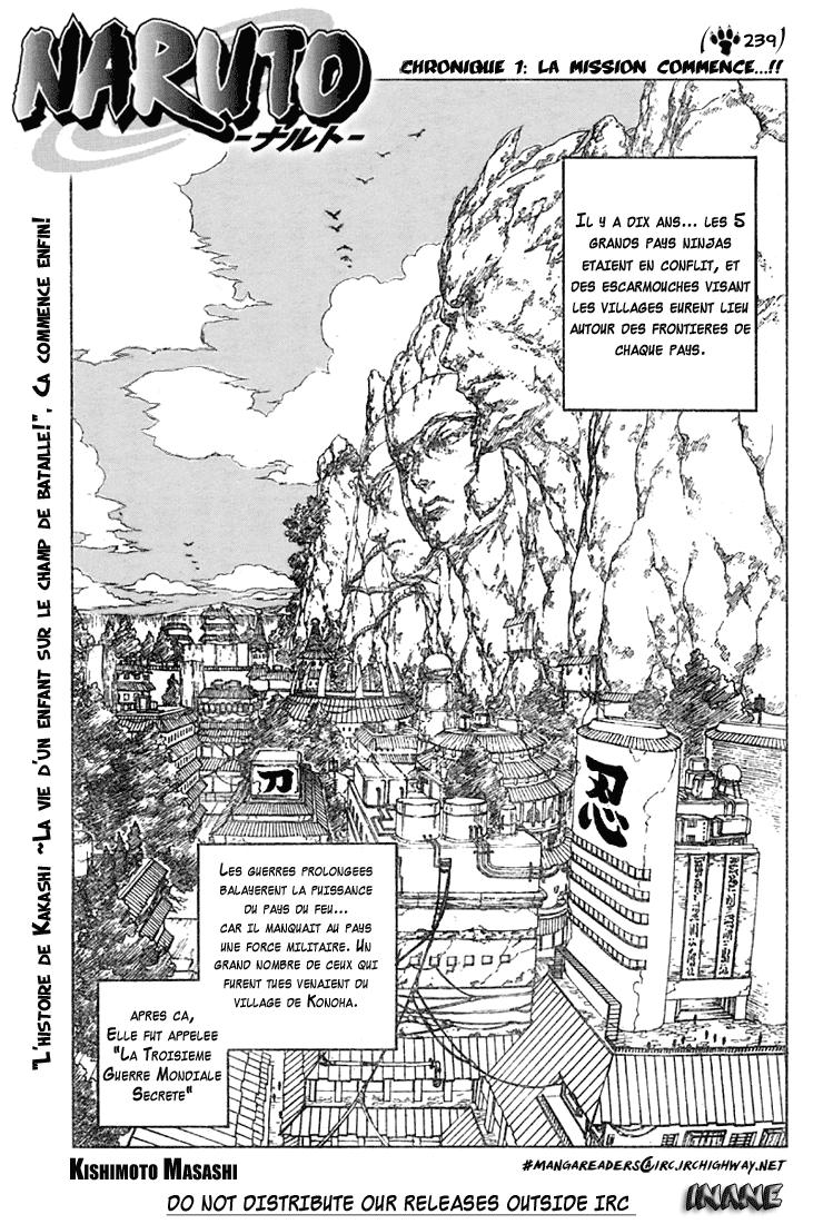 Naruto chapitre 239 - Page 1