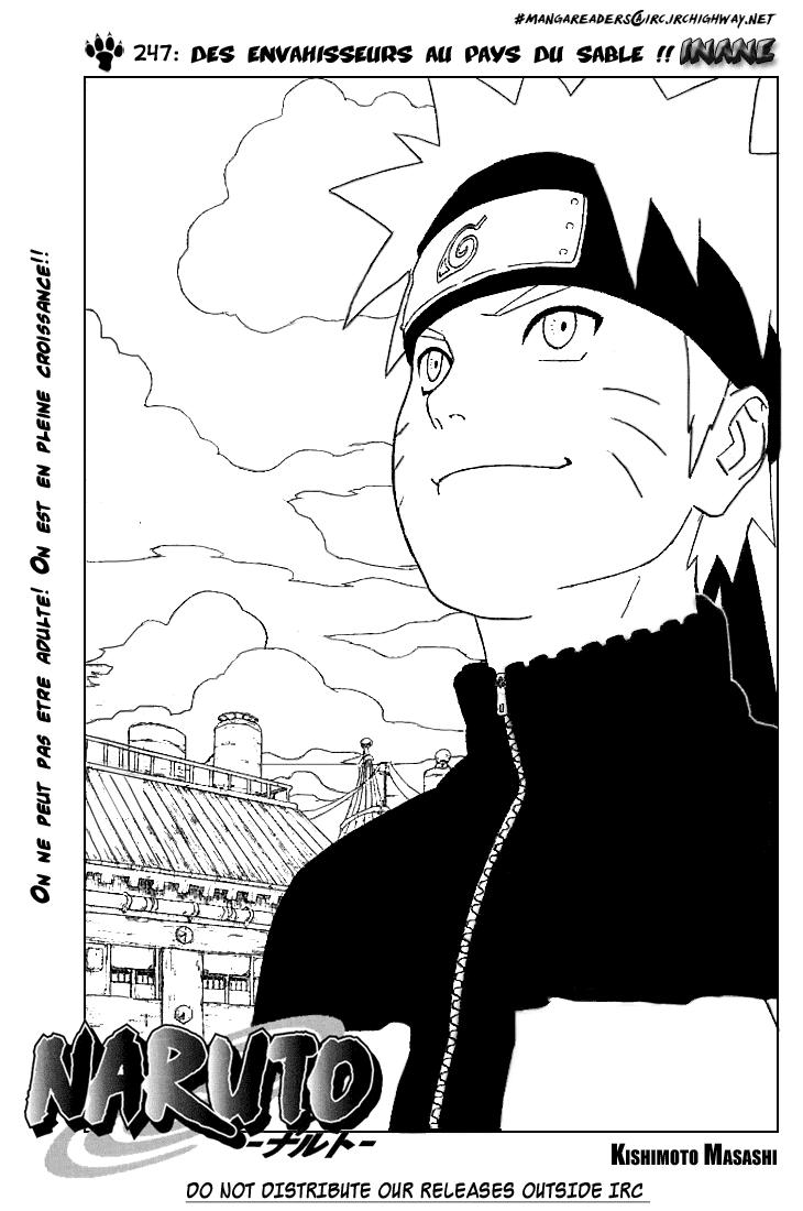 Naruto chapitre 247 - Page 1