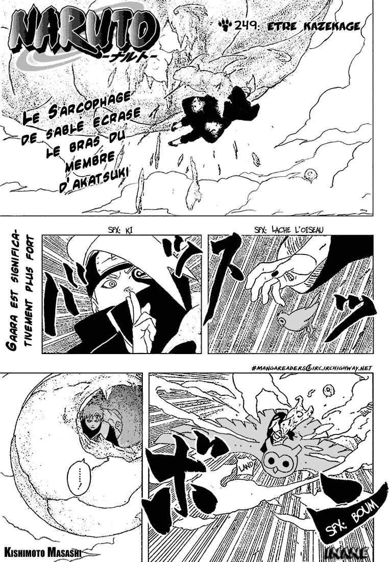 Naruto chapitre 249 - Page 1