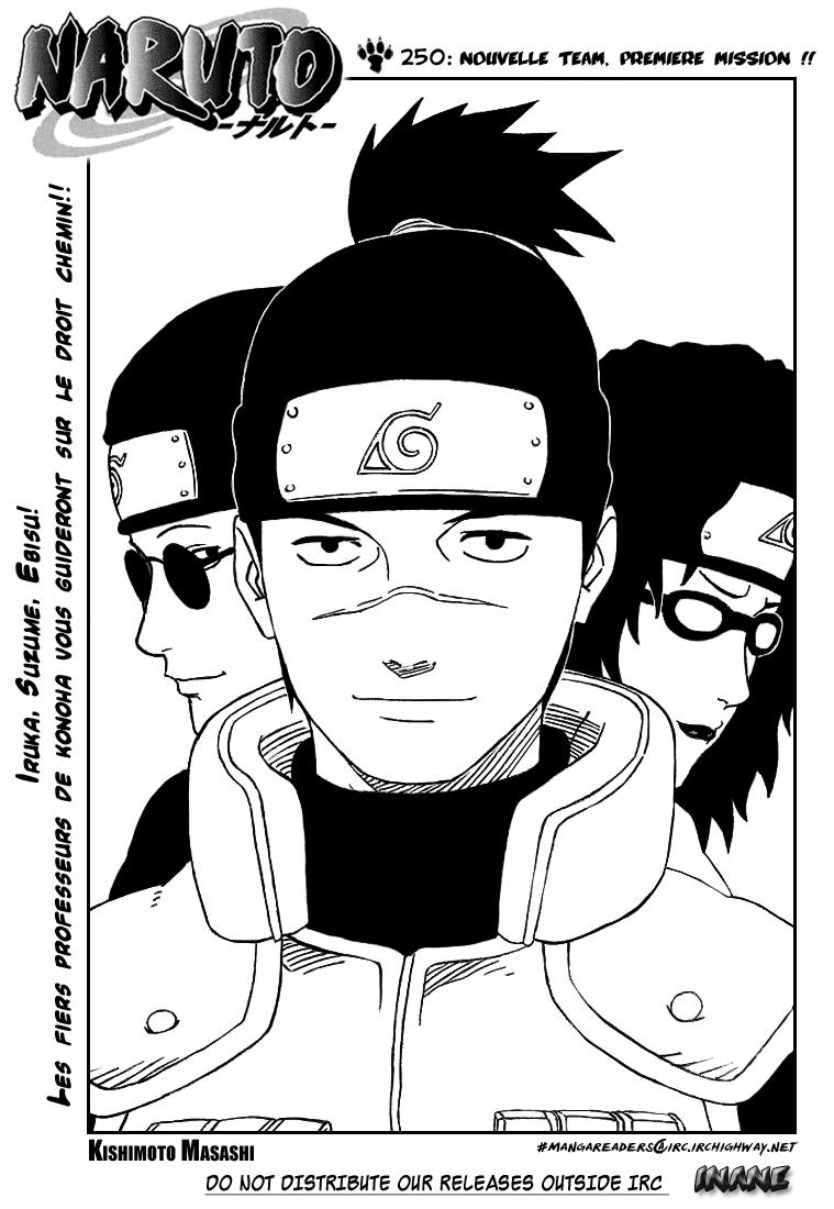 Naruto chapitre 250 - Page 1