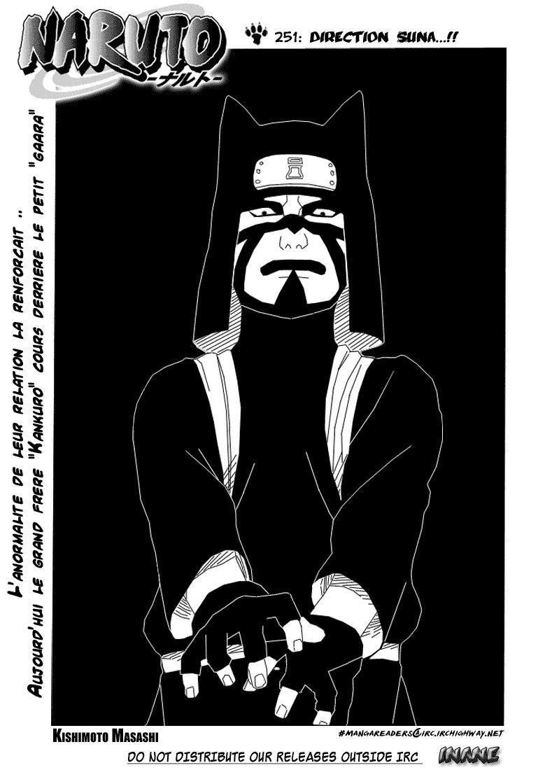 Naruto chapitre 251 - Page 1