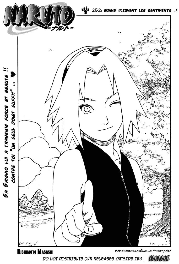 Naruto chapitre 252 - Page 1