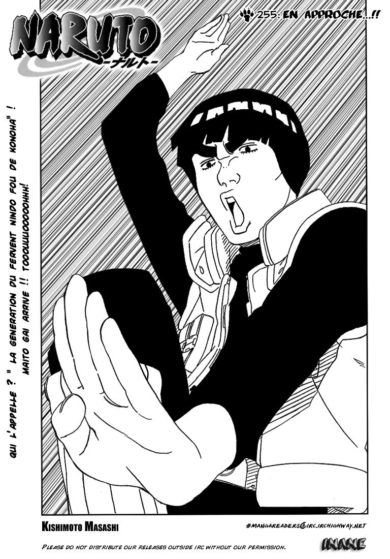 Naruto chapitre 255 - Page 1
