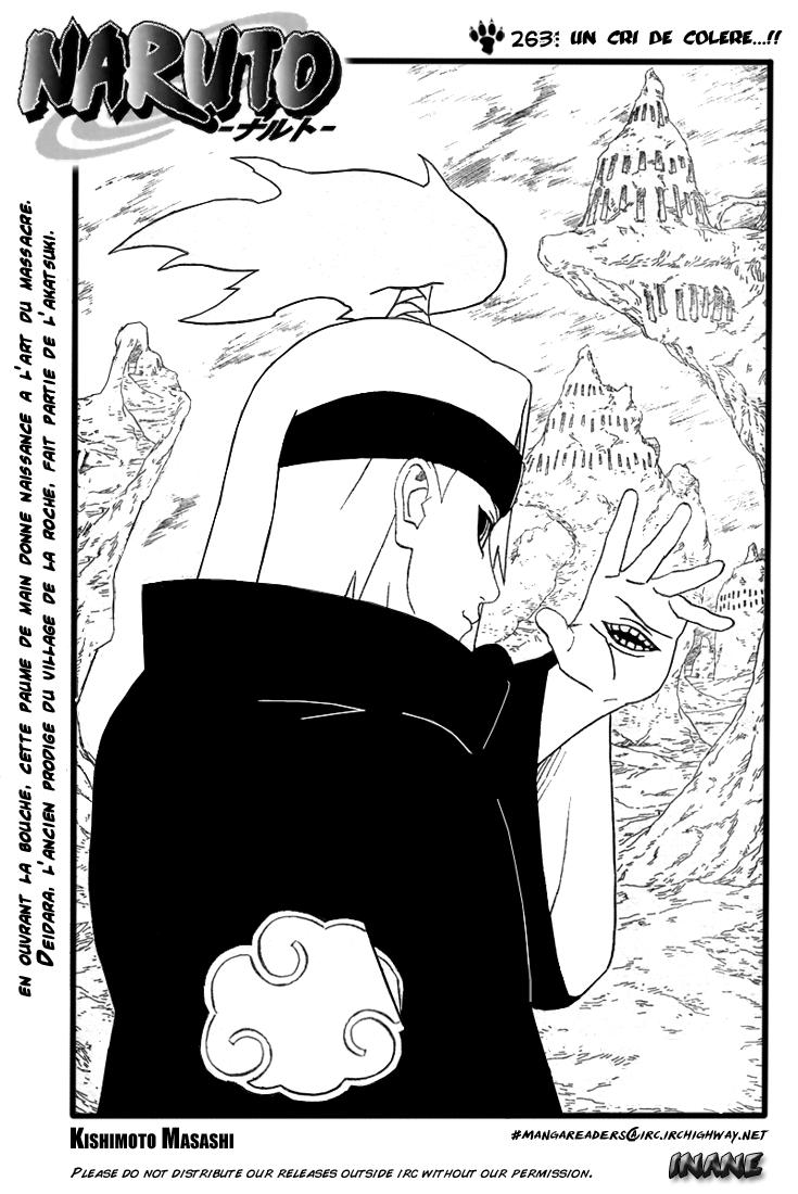 Naruto chapitre 263 - Page 1