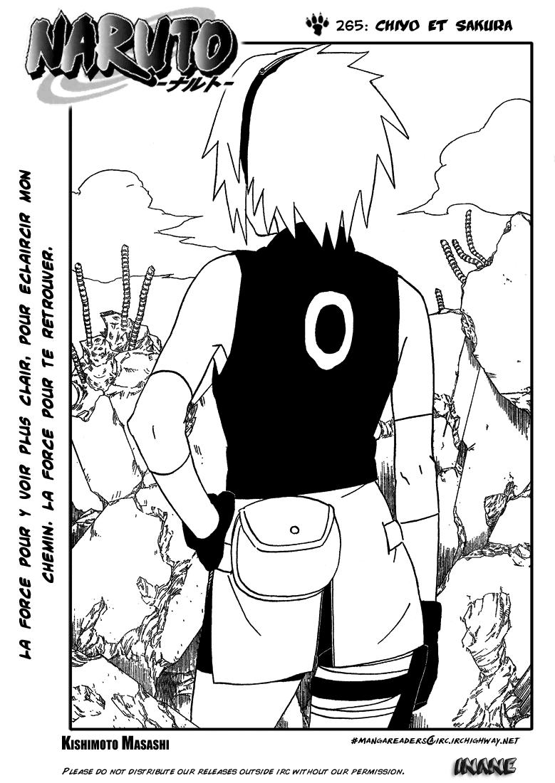 Naruto chapitre 265 - Page 1