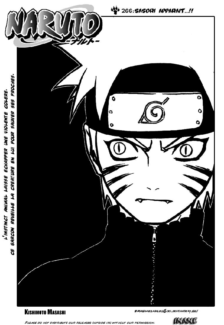 Naruto chapitre 266 - Page 1